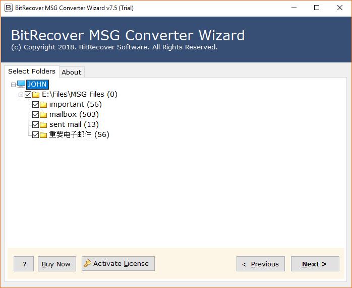 choose sub-folders